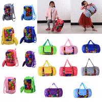 Wholesale Wholesale Beach Stuff - Kids Mesh beach bag shell bag Pouch Tote portable Folding Toys Storage Bags toys kids sandboxes Backpack D24*H48cm FFA188 12PCS 16styles