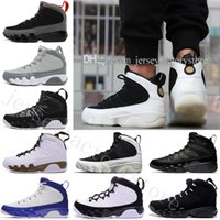 basketbol heykeller toptan satış-2018 Cheap NEW 9 Basketball Shoes Men White space Jam Anthracite Copper Statue Barons Suede Fabric 9s IX China Sports Tennis Mens Sneakers
