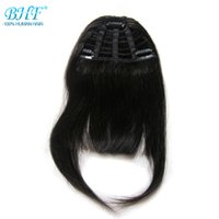 Bangs Temperamentvoll Bhf Menschliches Haar Pony 8 Zoll Bis 12 Zoll Lang Remy Clip In Haar Fringe 100% Natürliche Haar