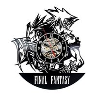 Wholesale fantasy room decor resale online - Final Fantasy Movie Elements Vinyl Creative Quartz Wall Clock Modern Home Decor Room Decoration Clock Size inches Color Black
