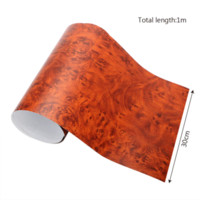 Wholesale carbon fiber auto wrap - Car Styling 3D Car Stickers Wood Grain Textured 4 Colors PVC Wood Grain Auto Decors Protective Car Wrap Film 30*100cm
