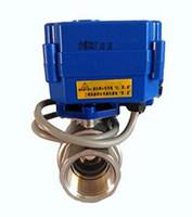 Wholesale ball valve dn15 resale online - Motorized Ball Valve quot DN15 DC12V SS304 Full bore Electrical Ball Valve CR quot