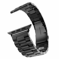 качественные золотые браслеты оптовых-Wholesale-New Quality Stainless Steel Strap Band  Band Sport Edition Black Silver Gold Watchband 38mm 42mm  band