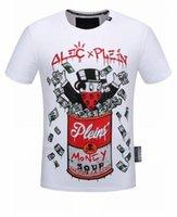 Wholesale Hot New T Shirt Designs - New Arrival 2018 Brand design Hot drilling printing men T Shirt fashion Hip Hop T-shirt Men 18216
