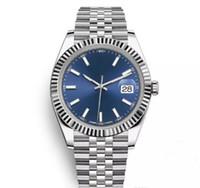 мужчины оптовых-Топ AAA 41 мм Datejust стальной синий циферблат часы мужчины механические автоматические часы люксовый бренд Reloj бизнес-Моды президент Desinger часы