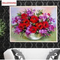 DIY 5D Diamond Embroidery Beautiful Flowers Round Diamond Painting Cross Stitch Kits Diamond Mosaic Home Decoration