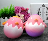 Wholesale Squishy Eggs - Easter Egg Chick Squishy Toys Simulation Food For Key Ring Phone Chain Toys Gifts All Kinds Of Style