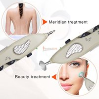 Wholesale acupuncture stick resale online - 2018 Digital LCD Electronic Acupuncture Device Massage Pen Pointer With Reflux Stick Activate Meridian Pain Relief Durable
