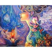 ingrosso figura delle donne di arte-Fiore Fata Diamante Pittura Donna Bomboniere Per Ospite Regalo Fai da te Resina Trapano Quadrato Artigianato Artigianato Home Decor 36zx bb