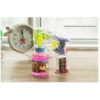 Wholesale toy bubble guns - New Coming High-quality Not Easy Leak Automatic Electric Laser Light Bubble Gun Children Toys Blowing Bubble Gun Boys Girls