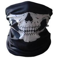 lenços engraçados venda por atacado-Crânio do dia das bruxas Impresso Máscara Engraçada Cachecol Acessórios Traje Cosplay Scary Máscara Partido Pranks Unisex Máscara de Inverno Lenço A Prova de Vento