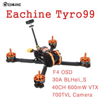Wholesale quadcopter kit unassembled for sale - Group buy Eachine Tyro99 mm DIY Version FPV Racing RC Drone Quadcopter F4 OSD A BLHeli_S CH mW VTX TVL Camera