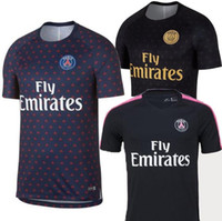 futbol tişörtleri tayland toptan satış-Tay 2018 2019 Paris futbol forması 18 19 mbappe VERRATTI CAVANI PSG futbol forması survetement maillot de ayak ön maç Eğitim top STRIKE