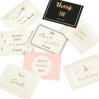 dulces tarjetas de felicitación al por mayor-Venta al por mayor Sweet Wish Lovely For You Feliz cumpleaños Gracias por favor Tarjeta de regalo Tarjeta de felicitación navideña impresa / Regalo para niños
