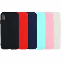 coque samsung оптовых-Тонкий матовый мягкий ТПУ чехол для Iphone XR 6.1 XS MAX 6.5 X XS 8 7 6 S Galaxy S10 Lite Plus Note9 S9 ультра тонкий равнина роскошный телефон обложка Коке