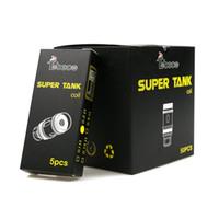 tobeco mini tanque super bobina al por mayor-100% Auténtico Tobeco super tank mini bobina 0.2ohm 0.5Ohm Bobina de reemplazo para mini tanque Super 25mm vaporizador RTA