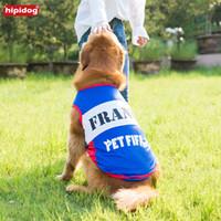 Wholesale medium jersey - Hipidog Breathable Dog Jerseys Vest Pet Clothes Summer Multi-Color Sports T-Shirt For Small Medium-sized Large Dog