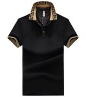 büyük polo gömlekler toptan satış-Toptan erkek giyim pamuk büyük boyutlu kısa kollu Tişört yaz yaka polo gömlek ücretsiz kargo