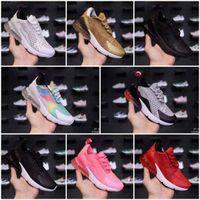 factory price 1bbec a8563 270 Kinder Designer Platinum Laufschuhe 2018 Grau weiß Regenbogen Infant Kinder  Sport Design Schuhe Kleinkind Trainer junge Mädchen Turnschuhe
