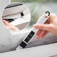 Wholesale Multipurpose Cleaner - Multipurpose Window Groove Cleaning Brush With Dustpan Folding Brush Householding Keyboard Home Kitchen Cleaning Tool CCA8872 500pcs