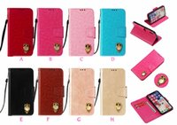 Wholesale 3d note case cartoon online - 3D Owl Leather Wallet Case For Iphone XR XS MAX X s Galaxy Note9 S9 Vintage PU ID Card Slot Coque Flip Cover Retro Cartoon Strap