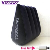 adult high beds 2018 - High quality Toughage Inflatable Sex Pillow Positions Adult Sex Sofa Bed Cushion Triangle Wedge Pad Sofa Toys Sex Hold Pillow S918