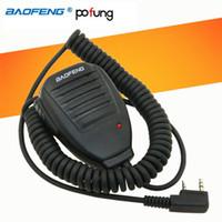 rádio móvel de banda dupla venda por atacado-5 pcs promoção rádio portátil microfone falante ptt baofeng mic para vhf uhf dual band rádio móvel uv5r uv3r bf-888s gt-3 peças