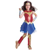 Wholesale xl wonder woman costume for sale - Child Wonder Woman Movie Deluxe Costume