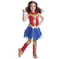Wholesale wonder woman movie costume for sale - Child Wonder Woman Movie Deluxe Costume