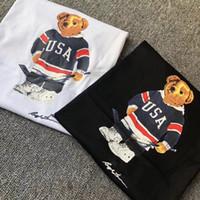 tamaño de estados unidos al por mayor-EE. UU. Tamaño Polo Oso camisa hombre camiseta EE. UU. Verano manga corta estándar UE Reino Unido tamaño camisas S M L XL 2XL dropshipping