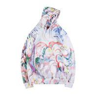 Wholesale reversible fleece - 2018 New Sup Landscape Hooded Sweatshirt Jacket High Quality Men Women Pullover Hoodie wind coat Outdoor Streetwear Jackets