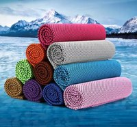 Wholesale Microfiber Sports Towel Camping - TOMSHOO 30*90cm Microfiber Reusable Instant Cooling Cold Chill Heat Relief Sports Compact Towel for Running Biking Travel Camping