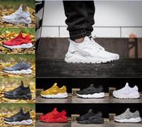 Wholesale Shoes Men 45 - Air Huarache 4.0 5.0 Classical Triple White Black red gold men women Huarache Shoes Huaraches sports Sneakers Running Shoes size 36-45