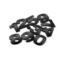 vinyl-gehäuse aufkleber großhandel-45mm 0-9 3D Metall Haustür Auto Auto Adresse Nummer Ziffern Ziffer Plaque Zeichen Zimmer Tor Abzeichen Aufkleber mit selbstklebend