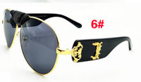 Wholesale reflective ladies sunglasses for sale - Group buy summer high quality womanoutdoor sport color film metal Sunglasses ladies driving goggle reflective mirror sunglasses colors A