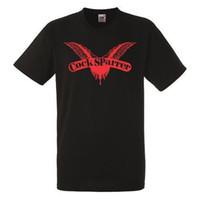 siyah erkek horoz toptan satış-Cock Sparrer Logo Siyah T-Shirt Rock Band Gömlek Ağır Metal Tee Tee Gömlek Erkekler Erkek Ekran Baskı Kısa Kollu Şükran Günü Özel Artı