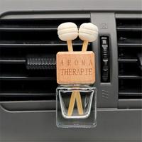 kristall-parfüm-flaschenöl großhandel-8 ML Auto Lufterfrischer Hängen Glasflasche für Ätherische Öle Auto Parfüm Flasche Kristall Auto-styling Auto Ornament Parfüm Anhänger