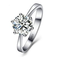 Wholesale men's wedding rings - Romantic Wedding Rings Jewelry Cubic Zirconia Ring for Women Men Sterling Silver Rings Accessories S
