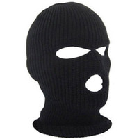3 Holes Face Ski Mask Balaclava Black Knit Hat Face Shield Beanie Cap Snow  Warm Hiking Caps Mens Womens Winter Balaclava Hood 0010ce15cd8e