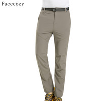 3aa88e0ba0f2 Facecozy 2018 Men Summer Outdoor Hiking Pants Quick Dry Camping Trousers  Breathable Trekking UV Ultralight Pant for Fishing C18111401