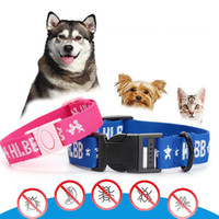 Wholesale cat flea tick collars - Anti Fleas & Ticks & Mosquitoes Elimination Collar Nylon Neck Strap For Pets Puppies Dogs Cats Adjustable NNA180