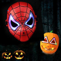flash de los vengadores al por mayor-2017 Máscara Flash LED Niños Máscaras de Halloween Que Brilla Intensamente Máscara de Iluminación Avengers Hulk Captain America Ironman Spiderman Party Máscara HH7-879