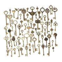 bronz giyim aksesuarları toptan satış-DIY El Yapımı Metal Antik Bronz Takı Aksesuarları Retro 69 Stilleri Anahtar Giyim Dizüstü Benzersiz Kolye Desteği FBA Drop Shipping G992F