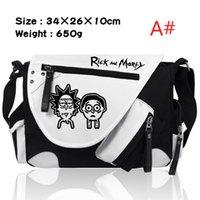 libro del cuerpo al por mayor-Bolso de hombro de la nueva manera Rick y Morty Crossbody Messenger Bag Unisex Book bag