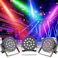 Wholesale 18x3w led - Professional DMX512 Led Par Light High Power 54W 18X3W RGB 4 In 1 Effect Stage Lighting AC 85-265V Auto Sound Active Master Slave