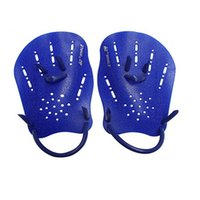 Wholesale webbed swimming gloves - 1 Pair Swimming Paddles Training Adjustable Hand Webbed Gloves Padel Fins Flippers For Men Women Kids Learn Gear 14bn aa