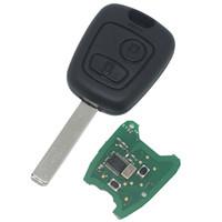 id46 chip peugeot venda por atacado-Atacado Peugeot Citroen 2 Botão Chave Remota com 433 MHZ Com ID46 Chip 7961 Chip Chave Remota