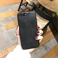 funda iphone piel animal al por mayor-YunRT Ultra-Slim Crocodile Pattern PU Leather Animal Snake Skin Cover Case para iPhone