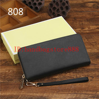 Wholesale Iphone Purses - Fashion Women luxury MICHAEL KALLY wallets famous brand Genuine leather wallet single zipper Cross pattern clutch girl purse for iphone