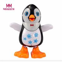 Wholesale electronics dance - MUQGEW Electronic Toys Swing Music Light Dancing Penguin Toy For children Creative children's penguinsi cartoon Birthday Gift